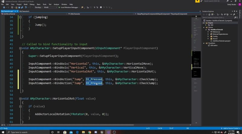 Character Jumping in C++   Advanced Character Controller Part 3   Unreal Tutorial