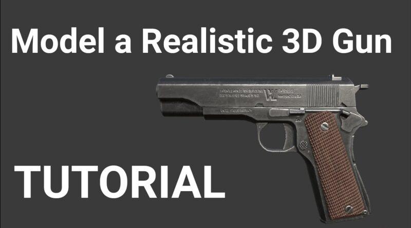 Modelling A Gun In Blender   Beginner Tutorial