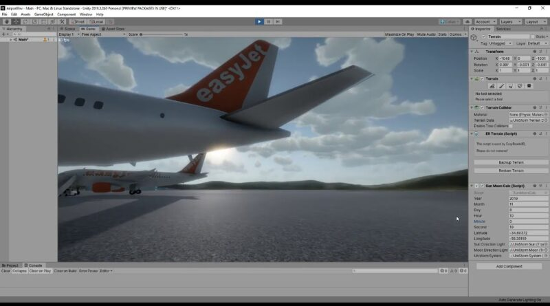 Unity Shader - Airport Environment Example(Day and Night)