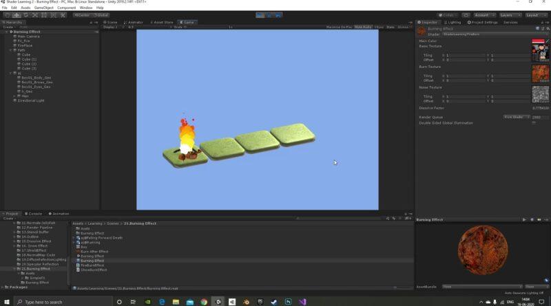 Burning effect using Unity Shaders(CG)