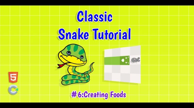 Construct 3: (#6) Creating Foods | HTML5 Game Tutorial