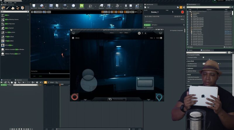 How To Use Your iPad as a Virtual Camera in Unreal Engine 4