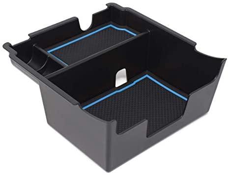 CupHolderHero fits Subaru Crosstrek 2018-2021 and fits Subaru Impreza 2017-2021 Premium Custom Interior Non-Slip Anti Dust Center Console Organizer Tray with Liner Mats, 3-pc Set (Blue Trim)