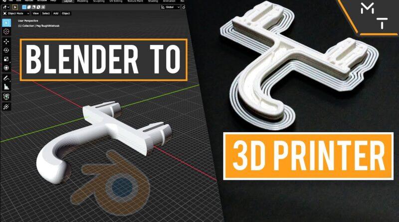 How to Blender To 3D Printer - The Basics | Tutorial | Blender for 3D Printing