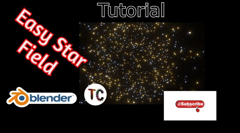 Easy Make a star field (Blender beginner tutorial)How to use an emitter to make a starfield