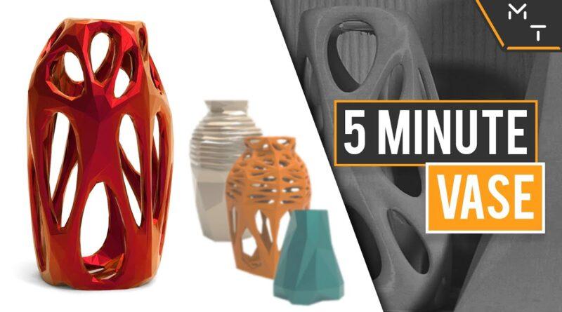How to: Design Unlimited 3D Printable Vase Designs In Minutes - Blender Tutorial