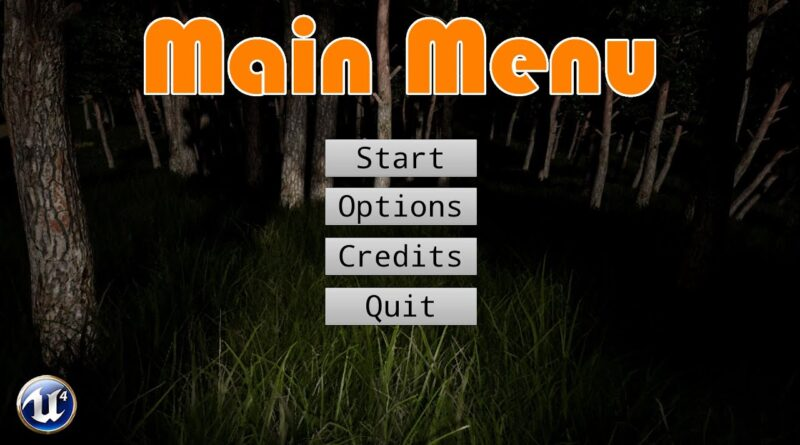How To Create A Main Menu - Unreal Engine 4 Tutorial