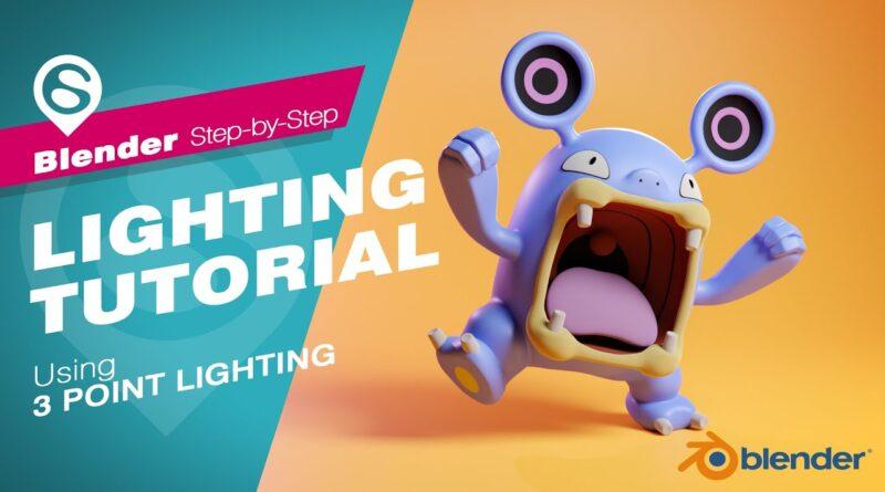 Blender Tutorial - 3 Point Lighting