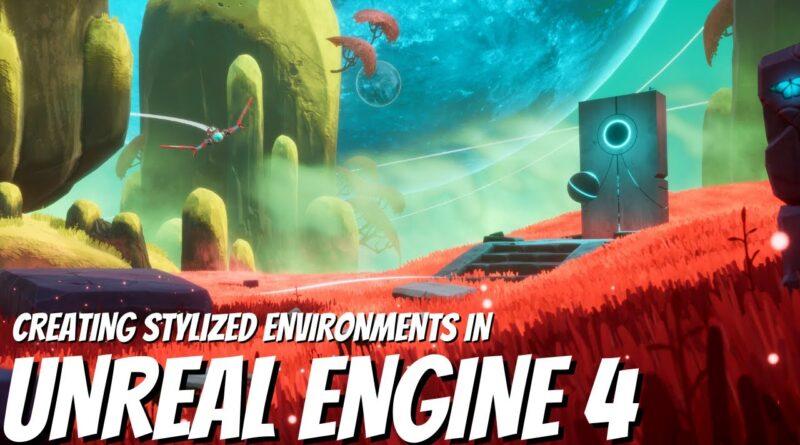 Creating Beautiful Sci-fi Worlds in Unreal Engine 4 - FULL BREAKDOWN