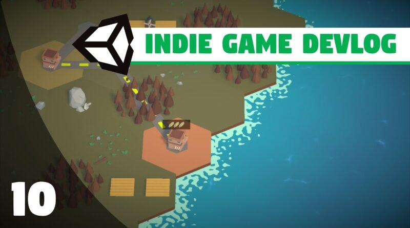 Indie Game Devlog #10 | NEW WATER SHADER (URP) - MINI COUNTRIES | Unity 3D