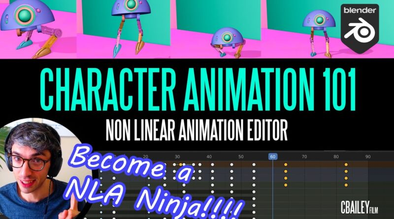 Animate Like A Pro In Blender   NLA Non Linear Animation Editor Tutorial