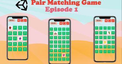 Pair Matching Game - Unity Tutorial (Episode 1)