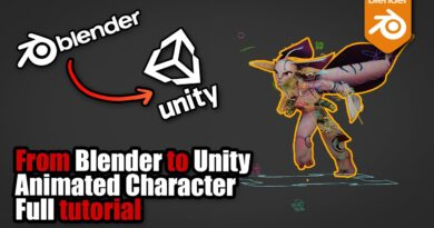 Exporting animated character from Blender to Unity - full tutorial