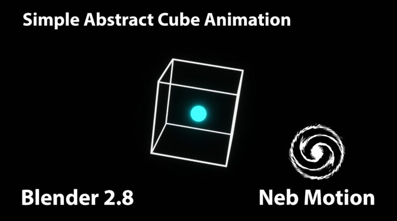 SIMPLE Abstract Cube Animation - Beginner Evee Blender Tutorial