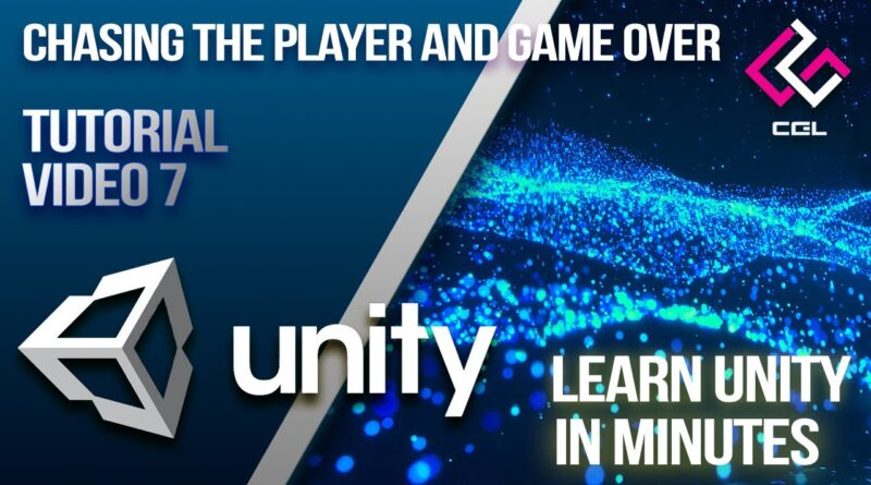 Chasing the Player and Game Over | Unity Tutorials | Computer Graphics Lab | IIT Kharagpur