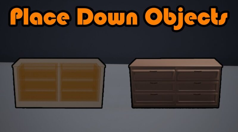 How To Place Down And Rotate Objects In Real Time - Unreal Engine 4 Tutorial