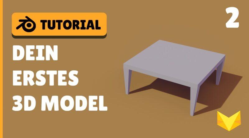 DEIN erstes 3D OBJEKT | Blender 2.8 Einsteiger Tutorial Deutsch | Part 2