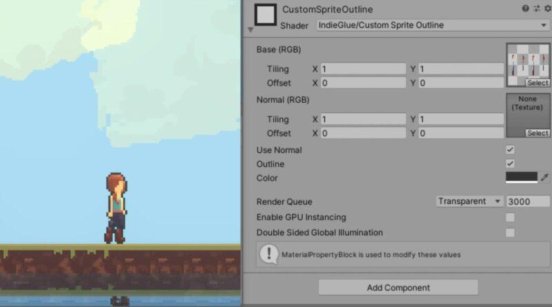 Unity URP - Outline Pixel Art Shader