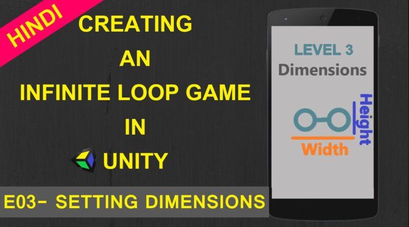 Unity Game Tutorials Hindi(E03) - Infinity Loop Game in Unity - Unity Tutorials in Hindi - unity 2d