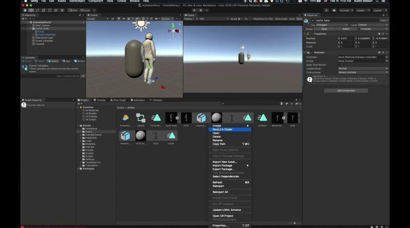 Unity 2020 : Tutorial 15 : Mechanics :  Animation In Unity : Part 2
