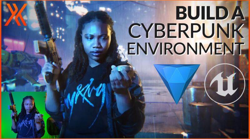Create a Cyberpunk 2077 Environment   Unreal Engine & HitFilm Tutorial