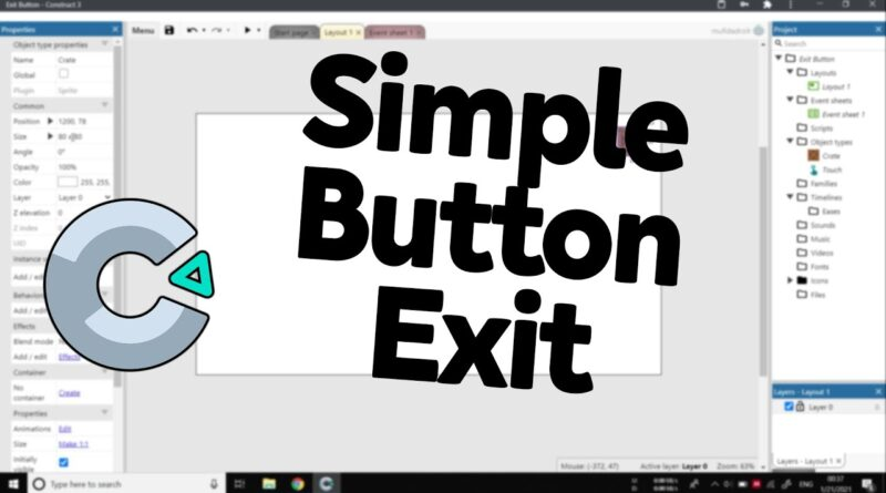 How To Make Exit Button Construct 3 (Basic)