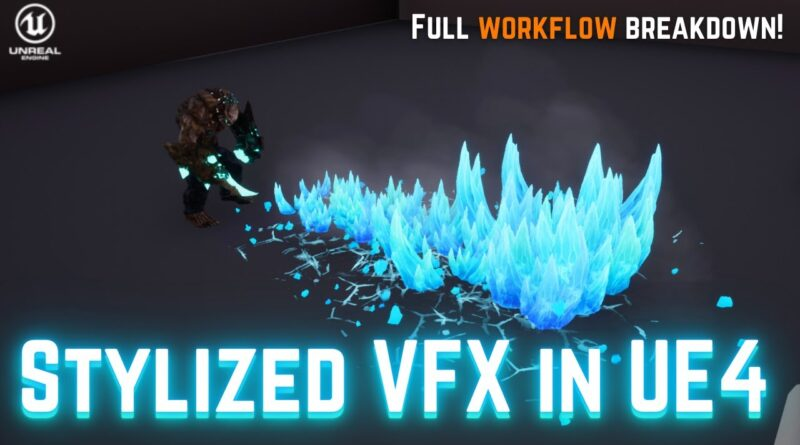 UE4 NIAGARA Beginner Tutorial - Realtime Ice Attack VFX