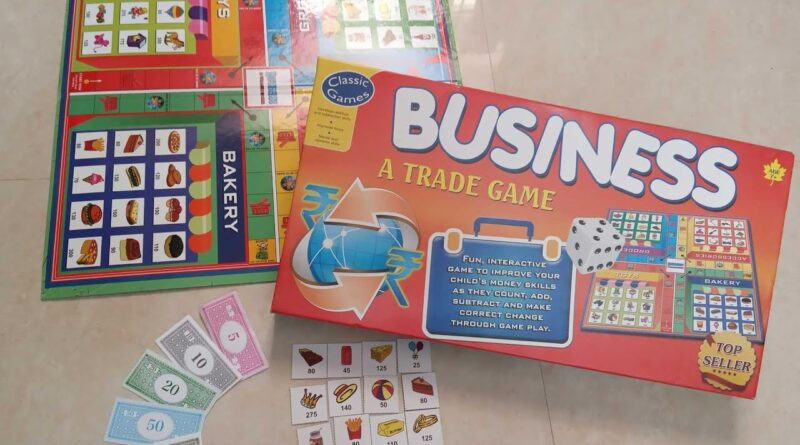 Classic Games Business Trade Board Game Unboxing