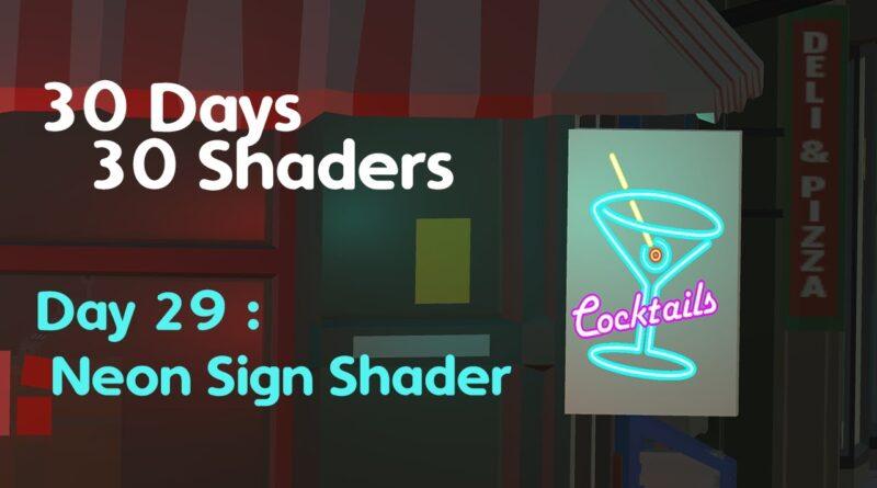 #30Days30Shaders | Day 29 | Neon Sign Shader