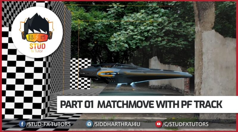 Integrating 3D into real scenes Hindi Tutorial Streaming  Part 01   Match move
