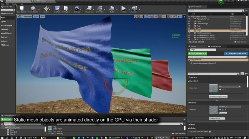 WIP - Workflow for exporting Blender animations to real-time shaders