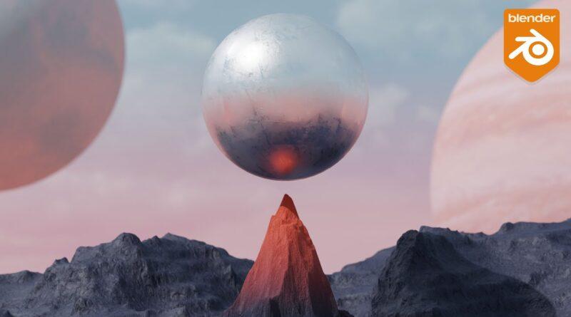 Blender tutorial - Easy alien planet animation. [cell fracture]