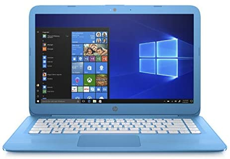 HP Stream 14-inch Laptop, Intel Celeron N3060 Processor, 4 GB SDRAM Memory, 32 GB eMMC storage, Windows 10 Home in S Mode with Office 365 Personal for one year (14-cb010nr, Aqua Blue)
