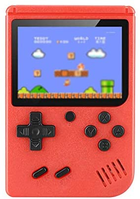 Retro Handheld Game Console, Mini Arcade Machines Built-in 400 Classical FC Games, Portable Handheld Video Games for Kids and Adult, Gameboy Console Box Support TV Output (Red)