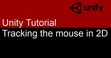 3 Minute Unity Tutorial : Tracking the mouse for a 2D game : Part 1