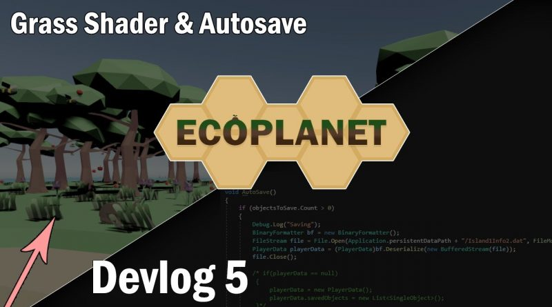 Grass sway Wind Shader, Autosaving and Savage Bunnies | Ecosystem indie game in Unity | Devlog #5