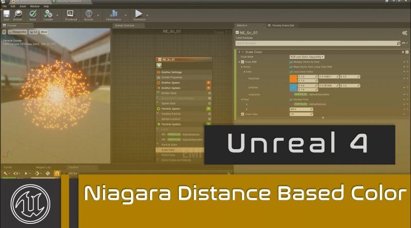 UE4 - Niagara Distance Based Color