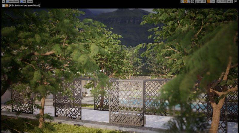 Unreal Engine 4 Arch-viz Tutorial Course  part 5-2 Realistic Trees