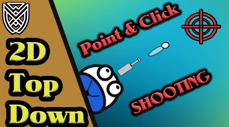 2D Top Down Shooting POINT & CLICK Unity Tutorial
