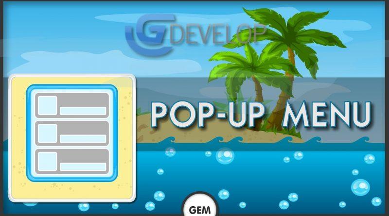 Pop-up menu   GDevelop 5