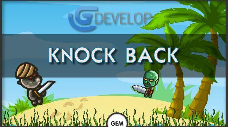 Knock back   GDevelop 5