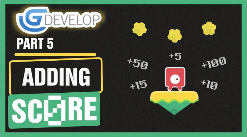 #5 Platformer Game - Adding Score   #GDevelop 5