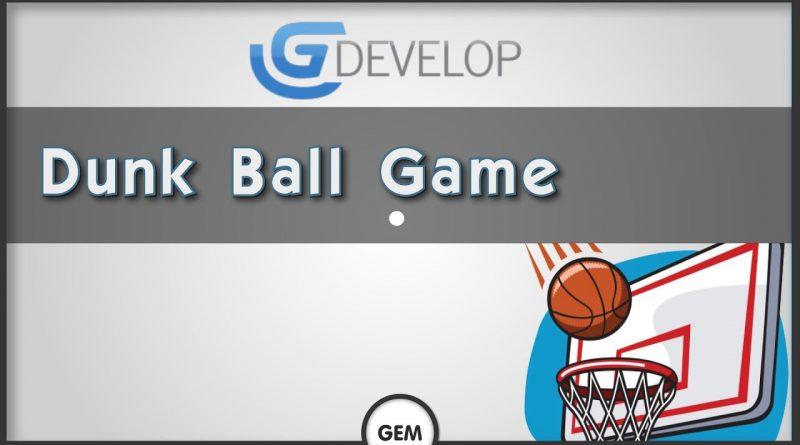 Dunk ball game | GDevelop 5