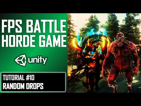 HOW TO MAKE FPS BATTLE HORDE GAME IN UNITY - TUTORIAL #10 - RANDOM AMMO DROPS