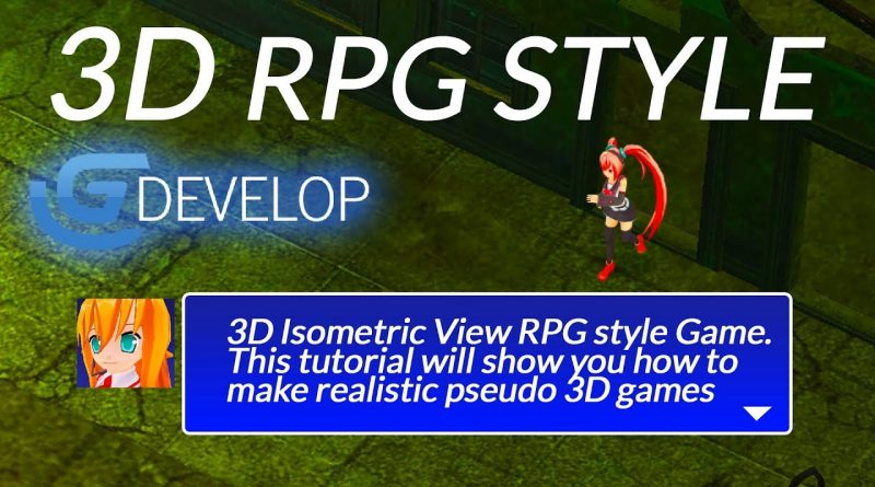 PSEUDO 3D RPG MADE IN Gdevelop [sparckman]