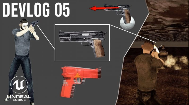 UE4 PS1 Style Game - Devlog 05: Handgun Weapon (Aiming & Shooting)