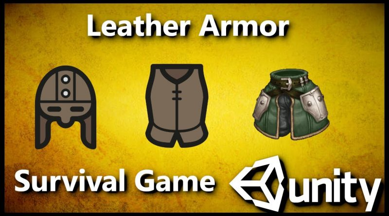 Unity 3D Survival Game: Leather Armor C# #25