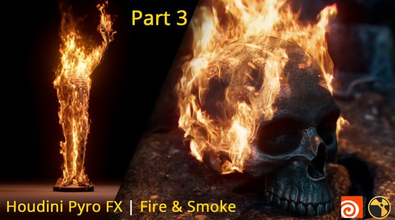 Pyro FX in Houdini Tutorial, Part 03 | Realistic Fire & Smoke | For Beginner