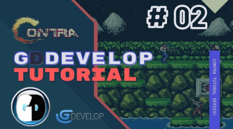 Gdevelop FREE VISUAL Game Engine: CONTRA Tutorial #02 - Jumping on and off platforms