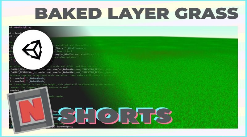 Stylized Grass in Unity URP! Compute shaders, layered mesh, and clip! Short A | Game Dev Tutorial